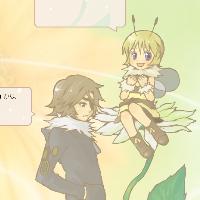 ミツバチとアシナガバチ